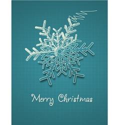 Christmas with snow flake vector