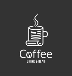 coffee cup logo concept coffee drink and read vector image