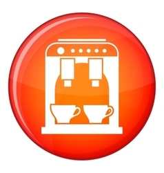 Coffee machine icon flat style vector