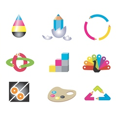 Creative art design icons vector image