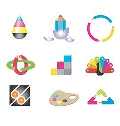 Creative art design icons vector