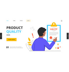 Defective product testing inspection customer vector