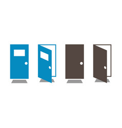 door open and close vector image