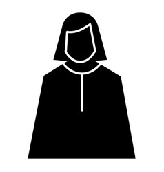 female judge icon simple style vector image