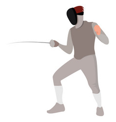 fencing on white background vector image