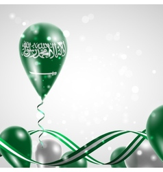 Flag of Saudi Arabia on balloon vector