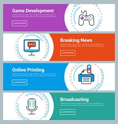 Flat Design Concept Set of Web Banners Game vector image