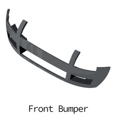 front bumper icon isometric 3d style vector image