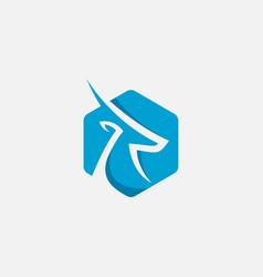 gazelle icon design gazelle logo vector image