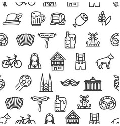 germany signs seamless pattern background on a vector image