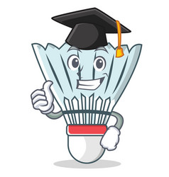 Graduation shuttlecock character cartoon vector