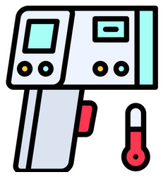 Infrared thermometer filled style icon vector