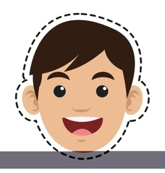 Isolated boy cartoon head design vector