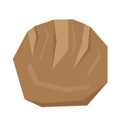 isolated geometric bread vector image