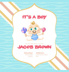 its a boy baby shower background vector image