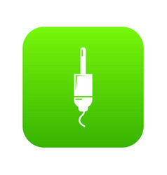 jack cable icon green vector image