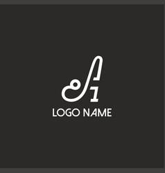 letter logo a vector image