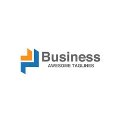 letter p logo for business vector image