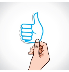 like symbol in hand vector image
