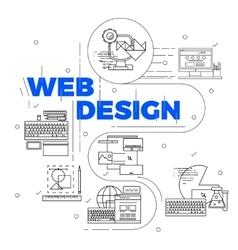 Line Art Design Concept vector image