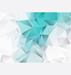 Low poly design with teal and silver colours vector