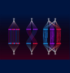 Machine learning algorithm big data visualization vector