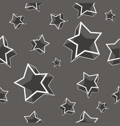 modern geometric star seamless pattern vector image
