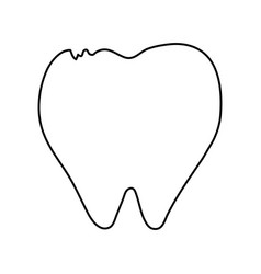 Molar tooth healthcare related icon image vector