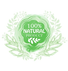 Natural product floral label vector image