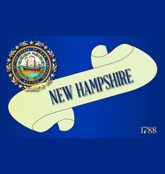 New hampshire scroll vector