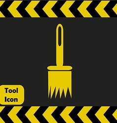 Paintbrush icon vector