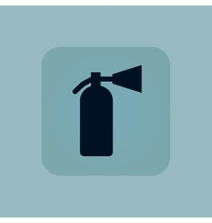 Pale blue fire extinguisher icon vector