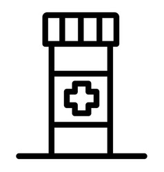 pill box icon outline style vector image