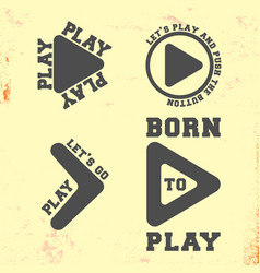 play symbol t shirt stamp t-shirt print design vector image
