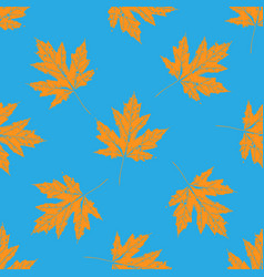 Prints of leaves of trees seamless pattern vector