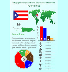 puerto rico infographics for presentation all vector image