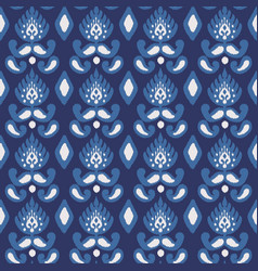 seamless pattern with embroidery ethnic ikat vector image