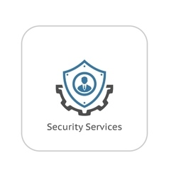 Security Services Icon Flat Design vector image
