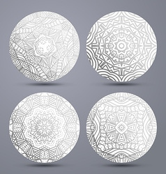 Set mandala pattern Mandala stand hot vector