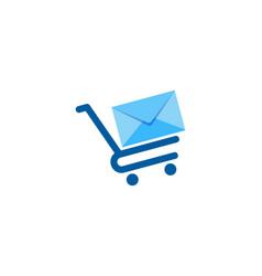 shop mail logo icon design vector image