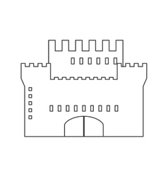 Simple large castle icon vector