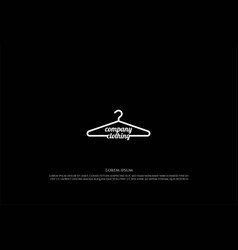simple minimalist hanger for shirt clothing vector image