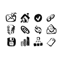 Sketch web icons vector
