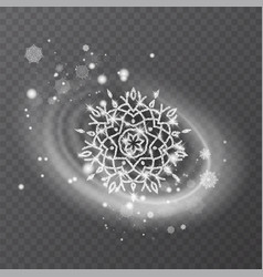 Snowflake with glittering texture vector