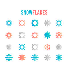 symbol of snow holiday cold weather frost vector image