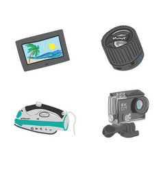 travel gadgets set vector image
