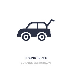 Trunk open icon on white background simple vector