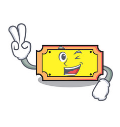 two finger ticket character cartoon style vector image