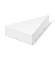 White cardboard triangle box packaging for food vector