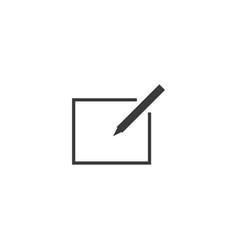 write icon line style vector image